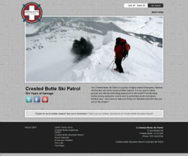 Crested Butte Ski Patrol - Crested Butte Web Design