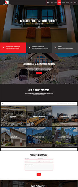 Laird-and-Gross-Builders---General-Contractor-in-Crested-Butte--CO - Web Design