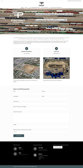 Denver Aerial Photo - Foresight Aerial Photography - Crested Butte Web Design