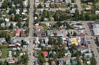 Aerial Photo Downtown Crested Butte CO