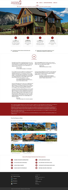 Crested Butte Construction - End of the Road Construction - Crested Butte Web Design