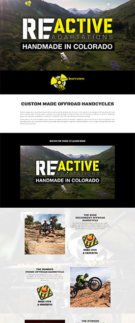ReActive-Adaptations - Crested Butte Web Design