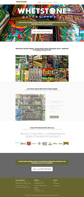 Whetstone Garden Supply - Crested Butte Web Design
